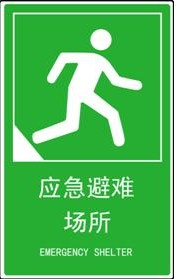 地震应急避难场所标志图片